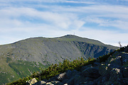 Mount Washington from Six Husbands Trail during the summer months in the White Mountains, New Hampshire USA.