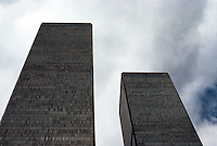 N.Y.City: World Trade Center. Minoru Yamasaki, Emery Roth & Sons, 1970-1977.  Photo '78.