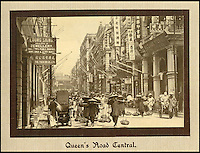 BNPS.co.uk (01202 558833)<br /> Pic: Tooveys/BNPS<br /> <br /> Rickshaws and coolies line Queens Road on Hong Kong Island - the first road in Hong Kong, constructed by the British between 1841 and 1843.<br /> <br /> A fascinating set of early images of Hong Kong long before it became the metropolis it is today have surfaced. <br /> <br /> The black and white photographs dating to the early 20th century depict a region unrecognisable to what stands today. <br /> <br /> There are several shots of natives walking down packed low-rise streets while a number of others picture primitive sailing boats. <br /> <br /> The collection was compiled by adventurous British photographer Denis H. Hazell, who took each of the 26 postcard-like photos.