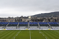 A general view of the Dyson Stand at the Recreation Ground. Aviva Premiership match, between Bath Rugby and Exeter Chiefs on December 31, 2016 at the Recreation Ground in Bath, England. Photo by: Patrick Khachfe / Onside Images