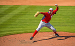 23 February 2013: Washington Nationals pitcher Bill Bray on the mound during a Spring Training Game against the New York Mets at Tradition Field in Port St. Lucie, Florida. The Mets defeated the Nationals 5-3 in their Grapefruit League Opening Day game. Mandatory Credit: Ed Wolfstein Photo *** RAW (NEF) Image File Available ***
