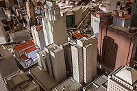 Detroit Quicken Loans offices Detroit, plastico di un possibile nuova downtown. In rosso gli edifici di proprietà della QL