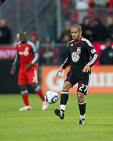 16 April 2011: D.C. United midfielder/forward Fred #27 in action during an MLS game between D.C. United and the Toronto FC at BMO Field in Toronto, Ontario Canada..D.C. United won 3-0.