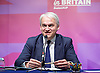 Peter Whittle <br /> UKIP Culture Spokesman<br /> and UKIP Economy Spokesman Patrick O'Flynn host a press briefing on St George's Day 23rd April 2015 at One Great George Street, London, Great Britain <br /> <br /> Patrick O'Flynn<br /> <br /> <br /> Photograph by Elliott Franks <br /> Image licensed to Elliott Franks Photography Services