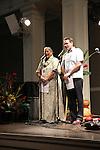 Slack Key Festival 2012.   Emcees Skylark Rosetti and Braddah Gomes,
