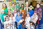 The Children of Holy Family NS Rathmore in rehearsal for their school play Christmas with Aliens front row l-r: Celine King, Grace Murphy, Chloe Breen, Filipe Zielin ski, Jennifer Buckley, Milly Kelleher. Back row: Sarah Kellher, Luke Healy, Emer Rahilly, Jack O'Sullivan, Daniel Buckley, Matthew Doherty. Back row: Anna Cashman, Fionn Murphy, Ciaran collins, Jack Buckley, Cian Twomey and Yasmin O'Brien