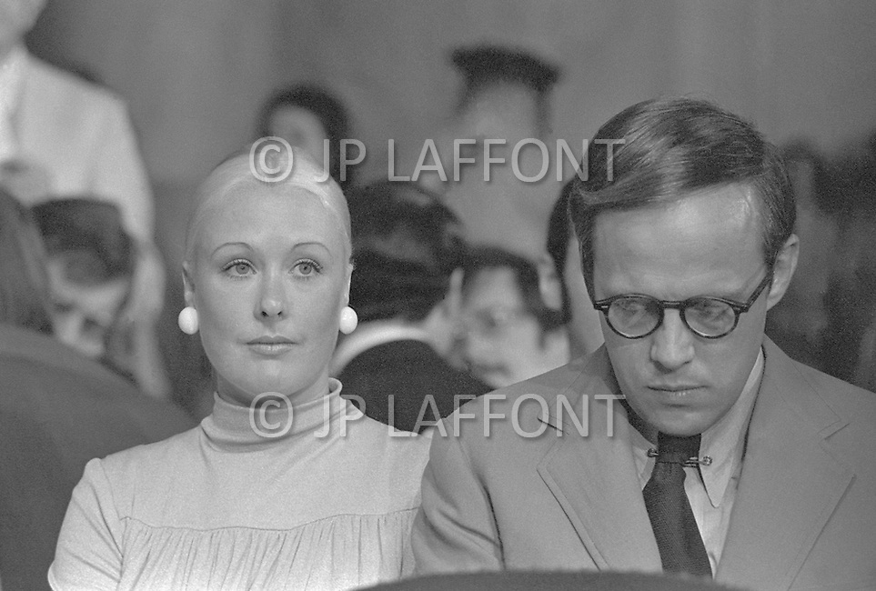 John Dean (with wife Maureen) testifies at Watergate Hearings -A break in at the Democratic National Committee headquarters at the Watergate complex on June 17, 1972 results in one of the biggest political scandals the US government has ever seen.  Effects of the scandal ultimately led to the resignation of  President Richard Nixon, on August 9, 1974, the first and only resignation of any U.S. President.