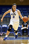 05 November 2015: Duke's Haley Gorecki. The Duke University Blue Devils hosted the Pfeiffer University Falcons at Cameron Indoor Stadium in Durham, North Carolina in a 2015-16 NCAA Women's Basketball Exhibition game. Duke won the game 113-36.