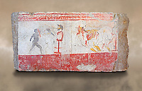 Lucanian fresco tomb painting . Paestrum, Andriuolo. Tomb 24.  (370-360 BC )