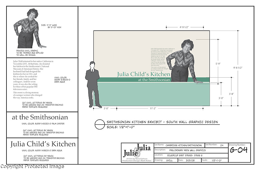 We recreated the display that the Smithsonian did of Julia Child's Kitchen, with Meryl Streep of course as Julia Child.