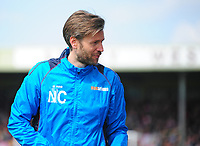 Lincoln City's assistant manager Nicky Cowley<br /> <br /> Photographer Andrew Vaughan/CameraSport<br /> <br /> Vanarama National League - Lincoln City v Macclesfield Town - Saturday 22nd April 2017 - Sincil Bank - Lincoln<br /> <br /> World Copyright &copy; 2017 CameraSport. All rights reserved. 43 Linden Ave. Countesthorpe. Leicester. England. LE8 5PG - Tel: +44 (0) 116 277 4147 - admin@camerasport.com - www.camerasport.com
