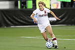 02 December 2011: Stanford's Camille Levin. The Stanford University Cardinal defeated the Florida State University Seminoles 3-0 at KSU Soccer Stadium in Kennesaw, Georgia in an NCAA Division I Women's Soccer College Cup semifinal game.