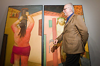 The painter and sculptor Fernando Botero, supervises the assembly of his recently work know as VIACRUCIS, passion of the Christ  at the Museum of Antioquia in Medellín, Colombia. 01/04/2012. Photo by Fredy Amariles/VIEWpress.