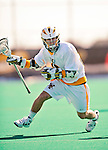 19 March 2011: University of Vermont Catamount Attacker Thomas Martin, a Freshman from Essex Fells, NJ, in action against the St. John's University Red Storm at Moulton Winder Field in Burlington, Vermont. The Catamounts defeated the visiting Red Storm 14-9. Mandatory Credit: Ed Wolfstein Photo