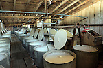 USA, California, Ontario. Olive curing vats. Graber Olive House.