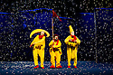 London, UK. 18.12.2012. SLAVA'S SNOWSHOW opens at the Royal Festival Hall, Southbank. It runs from Monday 17 December 2012 - Monday 7 January 2013. Photo credit: Jane Hobson.