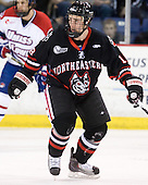 Mike McLaughlin (Northeastern - 18) - The visiting Northeastern University Huskies defeated the University of Massachusetts-Lowell River Hawks 3-2 with 14 seconds remaining in overtime on Friday, February 11, 2011, at Tsongas Arena in Lowelll, Massachusetts.