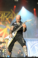 DERBYSHIRE, ENGLAND - AUGUST 14: Scott Ian of 'Anthrax' performing at Bloodstock Open Air Festival, Catton Park on August 14, 2016 in Derbyshire, England.<br /> CAP/MAR<br /> &copy;MAR/Capital Pictures /MediaPunch ***NORTH AND SOUTH AMERICAS ONLY***