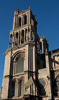 Bell towers, Church of Notre Dame, 12th - 14th century, Mantes-la-Jolie, Yvelines, France Picture by Manuel Cohen