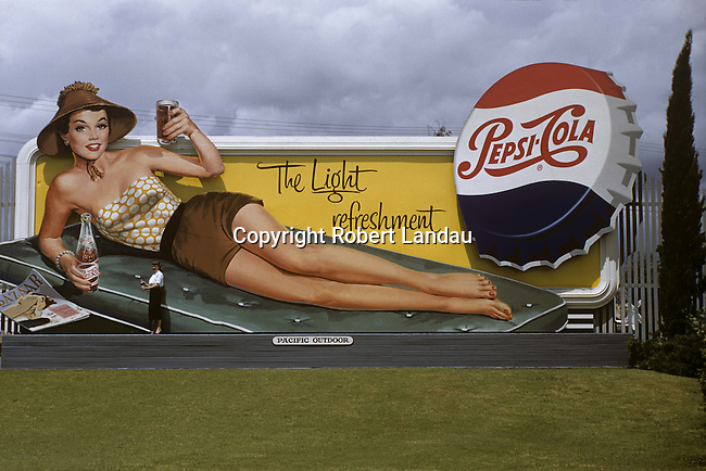 Pepsi Billboard circa 1950s