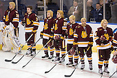 The team overdosed on bleach for the playoffs except Kyle Schmidt (Duluth - 7) who is getting married this summer. - The University of Minnesota-Duluth Bulldogs defeated the Union College Dutchmen 2-0 in their NCAA East Regional Semi-Final on Friday, March 25, 2011, at Webster Bank Arena at Harbor Yard in Bridgeport, Connecticut.