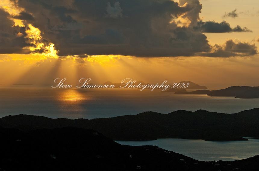 Bordeaux Mountain Sunrise.St John.U.S. Virgin Islands