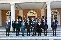 Group portrait ministers and prime ministers of Italy and Spain at Hispano-Italian meeting