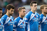 Hearts v St Johnstone&hellip;05.11.16  Tynecastle   SPFL<br />Richie Foster, Chris Millar and Joe Shaughnessy show their respect before kick off<br />Picture by Graeme Hart.<br />Copyright Perthshire Picture Agency<br />Tel: 01738 623350  Mobile: 07990 594431