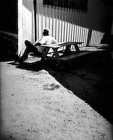 Holga portrait black and white