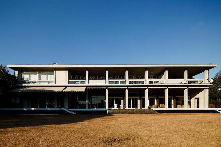Tokyo, January 2011 - French ambassador's residence  in Japan by Jean Desmaret et Joseph Belmont (1956).