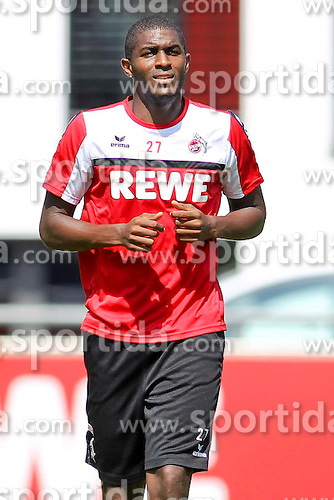 16.07.2015, Geissbockheim, Koeln, GER, 1. FBL, 1. FC Koeln, Training, im Bild Neuzugang Anthony Modeste (1. FC Koeln #27) // during a practice session of German Bundesliga Club 1. FC Cologne at the Geissbockheim in Koeln, Germany on 2015/07/16. EXPA Pictures &copy; 2015, PhotoCredit: EXPA/ Eibner-Pressefoto/ Schueler<br /> <br /> *****ATTENTION - OUT of GER*****