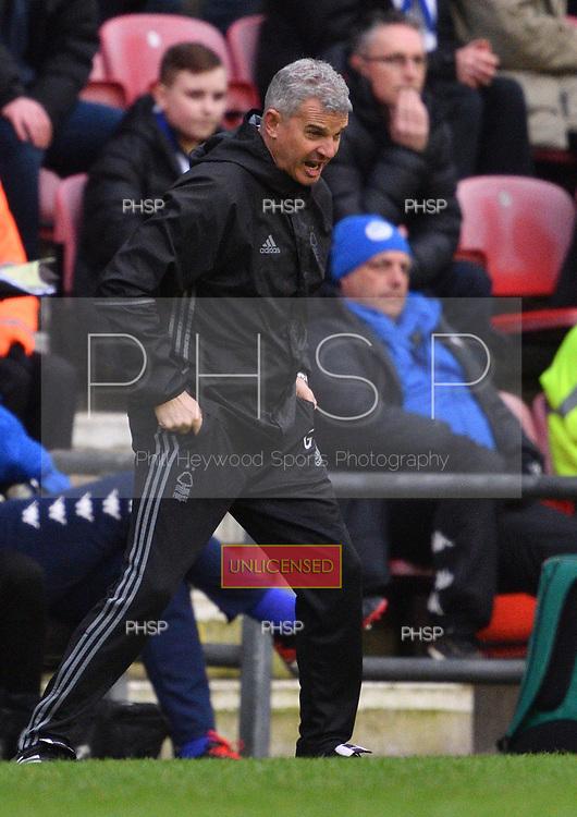 25/02/2017 Sky Bet Championship Wigan Athletic v Nottingham Forest<br /> <br /> Nottingham Forest manager, Gary Brazil