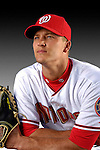 25 February 2007: Washington Nationals catcher Brandon Harper poses for his Photo Day portrait at Space Coast Stadium in Viera, Florida.<br /> <br /> Mandatory Photo Credit: Ed Wolfstein Photo<br /> <br /> Note: This image is available in a RAW (NEF) File Format - contact Photographer.