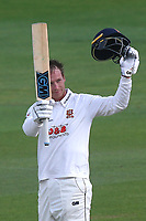 Tom Westley of Essex celebrates scoring a century, 100 runs during Essex CCC vs Hampshire CCC, Specsavers County Championship Division 1 Cricket at The Cloudfm County Ground on 19th May 2017