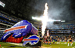 7 December 2008: Members of the Buffalo Bills take to the field prior to facing the Miami Dolphins in the first regular season NFL game ever to be played in Canada. The Dolphins defeated the Bills 16-3 at the Rogers Centre in Toronto, Ontario. ..Mandatory Photo Credit: Ed Wolfstein Photo