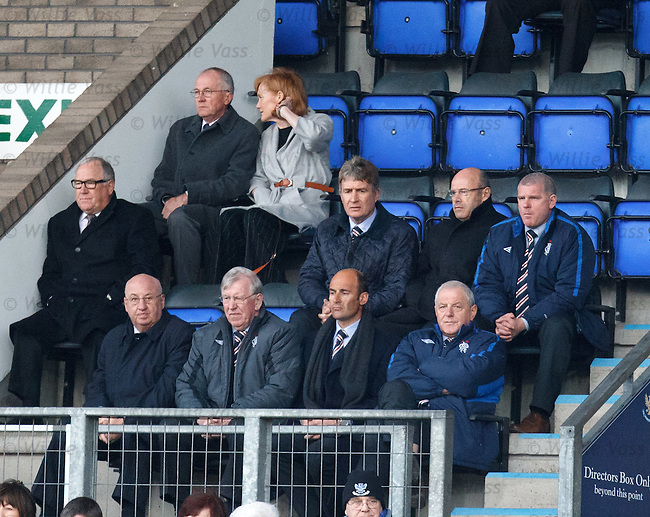 Walter Smith in the stand with his directors