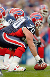 Buffalo Bills center Trey Teague sets up to snap against the Carolina Panthers on November 27, 2005 at Ralph Wilson Stadium in Orchard Park, NY. The Panthers defeated the Bills 13-9. Mandatory Photo Credit: Ed Wolfstein