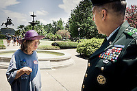 We need to talk the woman on the image might bee saying to Lt. Gen. Russel Honore in New orleans 9 months after hurrican Katrina
