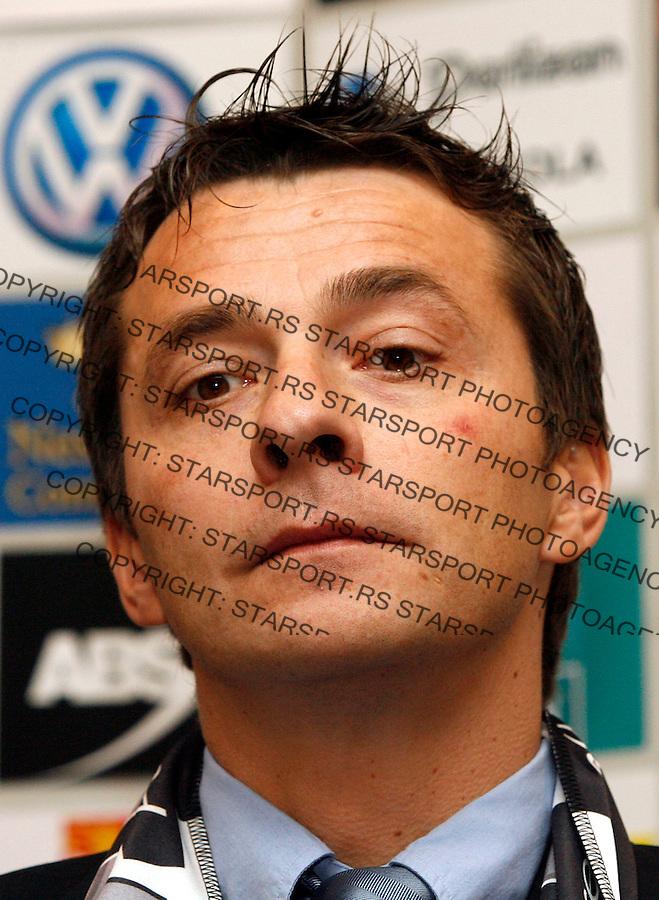Fudbal, promocija novog trnera FK Partizan.head coach Slavisa Jokanovic.Beograd, 28.12.2007..foto: Srdjan Stevanovic