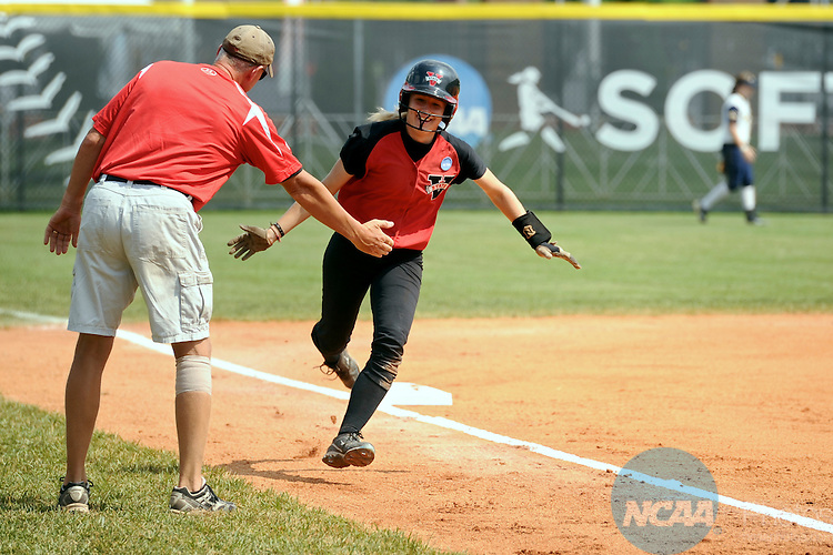 19 MAY 2012: Courtney Albritton of Valdosta State rounds the bases to score during the Division II Women's Softball Championship held at Knights Field on the campus of the Bellarman University in Louisville, KY. Valdosta State defeated UC San Diego 4-1 to claim the national title. Stephen Nowland/NCAA Photos