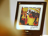 A surveillance tape from a Big Lots store from October 19, 2002 is displayed on a screen during testimony in the trial of sniper suspect John Allen Muhammad in courtroom 10 at the Virginia Beach Circuit Court in Virginia Beach, Virginia, on October 31, 2003. <br /> Credit: Adrin Snider - Pool via CNP
