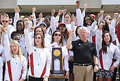 Pep rally for Razorbacks' NCAA women's indoor title