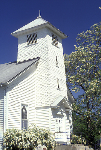 Locust Grove church in Ashland Missouri with Locust trees