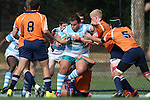 27 September 2014: North Carolina's John Ahlert (3). The University of North Carolina Tar Heels hosted the University of Virginia Cavaliers at Hooker Field in Chapel Hill, NC in a 2014-15 USA College Rugby match. North Carolina won the game 27-12.
