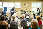 """Woodbury, CT- 21  May 2017-052117CM08-  The Rivera Quintet plays for an audience at the Woodbury Senior Center on Sunday. Known for their hits including """"California Sun"""", """"Detroit City"""" and """"Messin with the Kid"""" the group played rock and pop music from the '50's and '60's. Christopher Massa Republican-American"""
