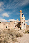 The ruins of Cook Bank Building in the historic town of Rhyolite, Nevada