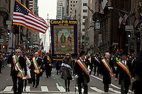 Revelers march on Fifth Avenue during the 252nd annual St. Patrick's Day Parade in New York City. Photo by Eduardo Munoz Alvarez / VIEWpress.