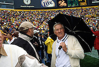 Jimmy Taylor on the sidelines of a Packers game at Lambeau Field