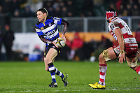 Rhys Priestland of Bath Rugby looks to pass the ball. Anglo-Welsh Cup match, between Bath Rugby and Gloucester Rugby on January 27, 2017 at the Recreation Ground in Bath, England. Photo by: Patrick Khachfe / Onside Images