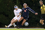 16 November 2012: Illinois' Shayla Mutz (10) and UNC's Paige Nielsen (24). The University of North Carolina Tar Heels played the University of Illinois Fighting Illini at Fetzer Field in Chapel Hill, North Carolina in a 2012 NCAA Division I Women's Soccer Tournament Second Round game. UNC won the game 9-2.